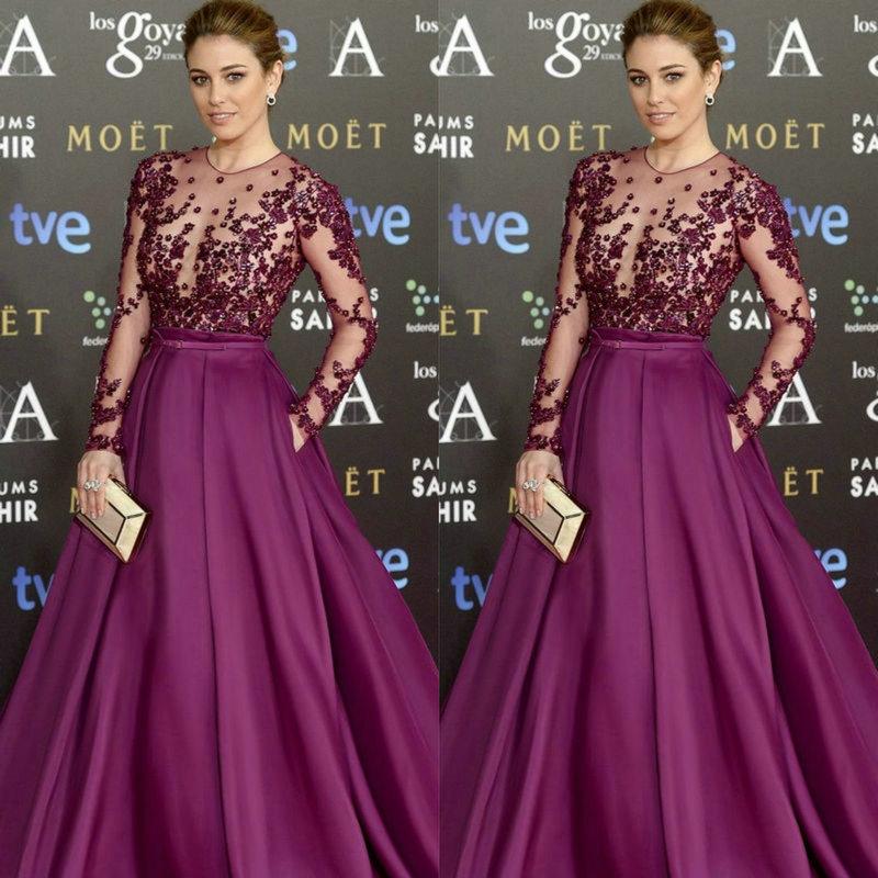 Goya Cinema Awards 2015 Red Carpet Long Sleeve Celebrity