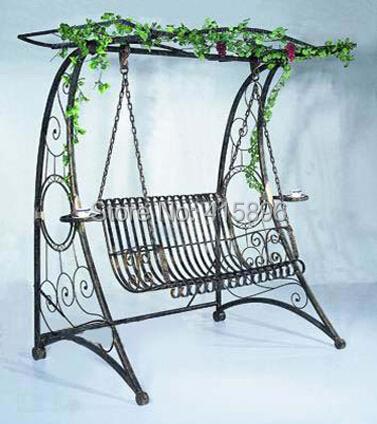 china wrought iron garden swing design(China (Mainland))