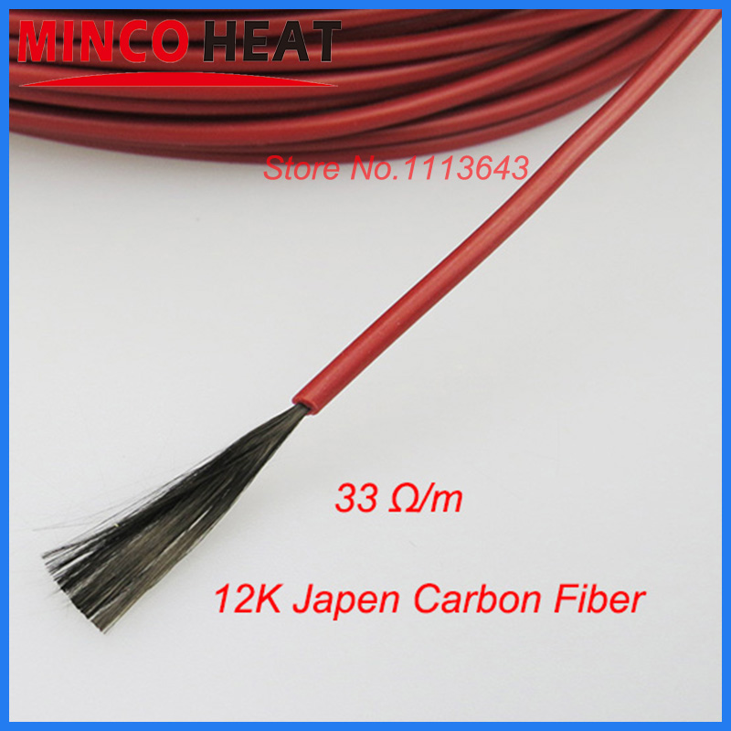 New Infrared Underfloor Heating Cable System Of 220v 230v 3mm 12K 33 Ohm Carbon Fiber Floor Roof Electric Wire Hotline 50m<br><br>Aliexpress