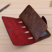 2015 New special Men s Vintage Wallet Fine Bifold Brown Genuine Leather Pu Bailini Purse Wallets
