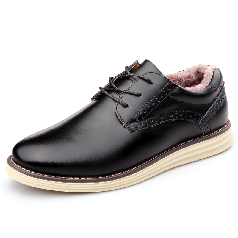 Men's leather shoes and cotton-padded leather shoes