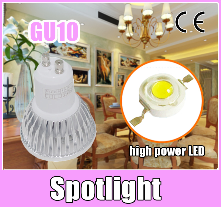 Promotion led Spotlight GU10 4x3W 12W Dimmable/Non-Dimmable Lamp lights DC 85-265V bulb warm white/cold white ! - OK-LED store