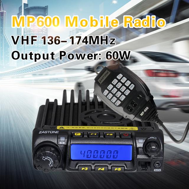 Hot-selling Vehicle Mounted Mobile Radio VHF 136-174MHz Zastone MP-600 Max 60Watts Output MP600 Car Radio