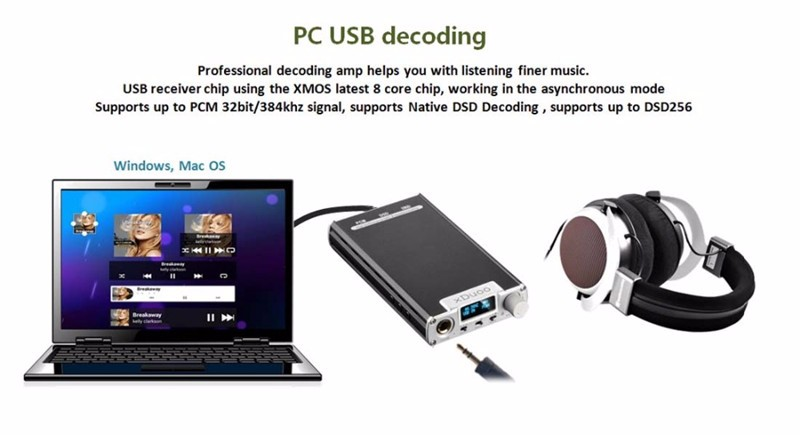 2017 Newest XDuoo XD-05 Portable Audio DAC Headphone Amplifier AMP Support Native DSD Decoding 32bit/384khz with HD OLED Display