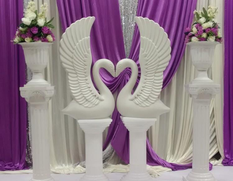 Wholesale 20pcs creative plastic white swan wedding for Cheap elegant wedding decorations