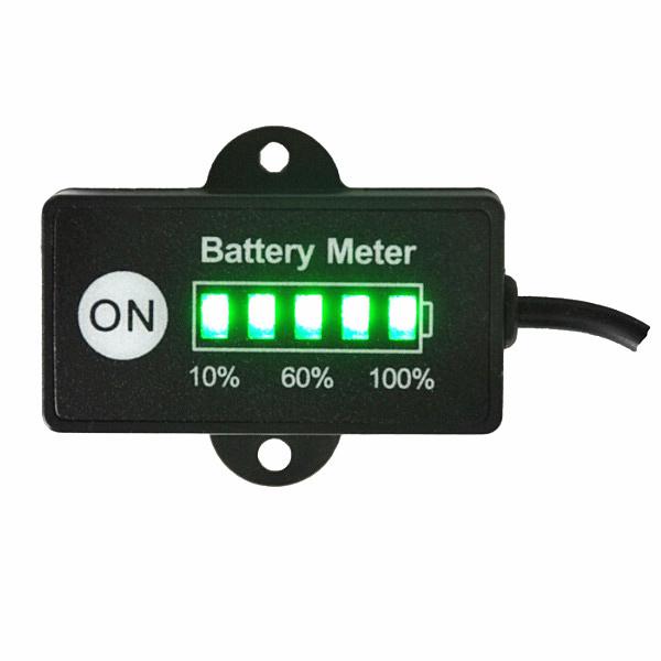 12 Volt Battery Gauge : Volt mini battery gauge led meter indicator