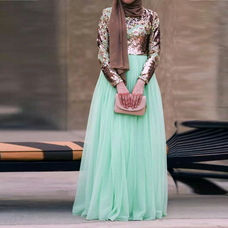 mint green maxi skirt a line floor length chiffon skirt