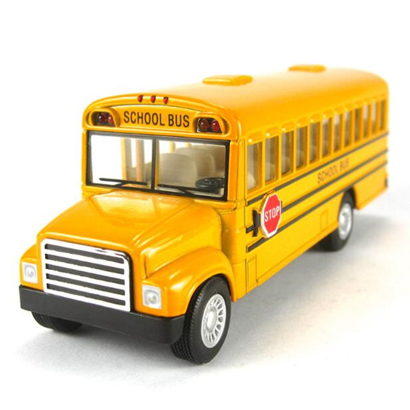 American school bus students Shuttle Back to school bus alloy car Child toy car model(China (Mainland))