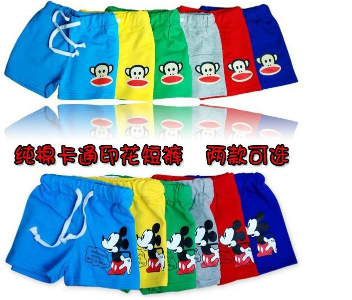 boy girl summer pants children Mickey shorts kids cartoon pants more color 5size 5pcs/lots free shipping S203<br><br>Aliexpress