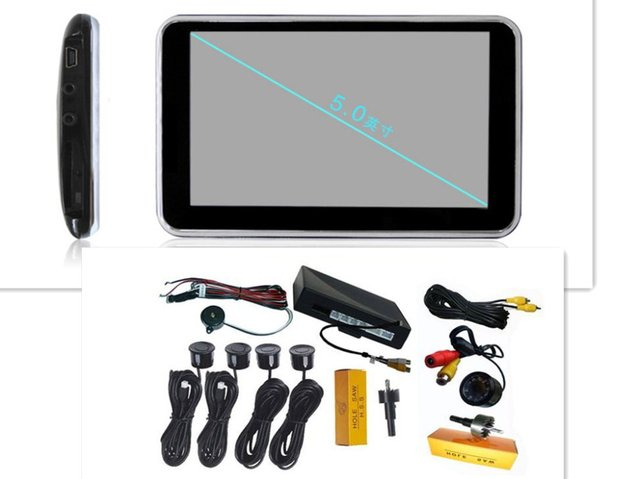 5 inch GPS Navigation+Wireless reverse camera and parking sensor WBT-GPS1500SC4 Full function Hot selling