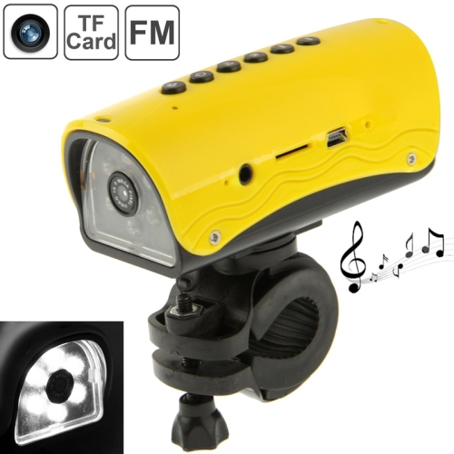Multi-function Outdoor Sport DVR / Bicycle DVR / Helmet DVR, MP3 Player+FM Radio+LED Flashlight Function, Support TFCard, DV-009<br><br>Aliexpress