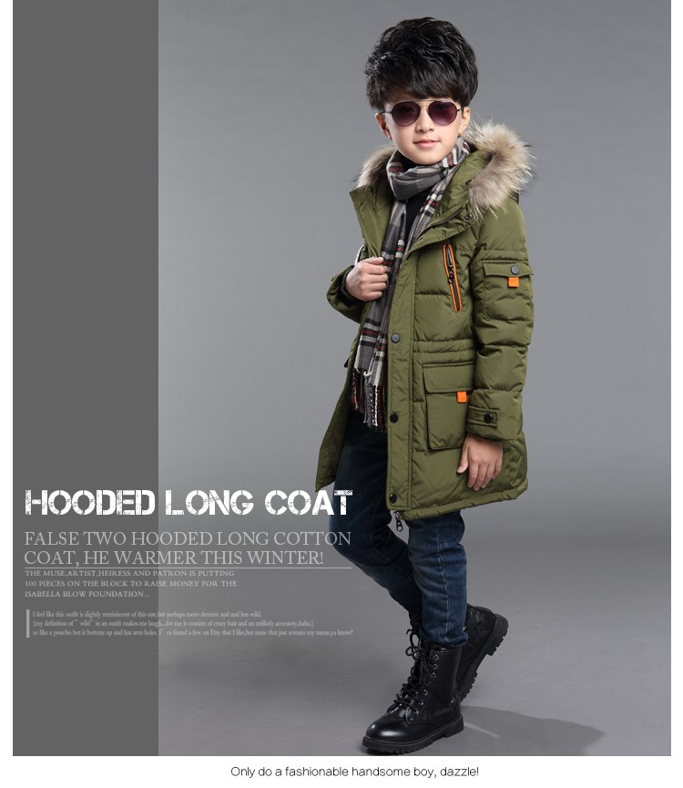 Скидки на Мальчики зимняя куртка вниз хлопка проложенный пуховик для детей мальчик с капюшоном сгущает верхняя одежда пальто теплые детская одежда