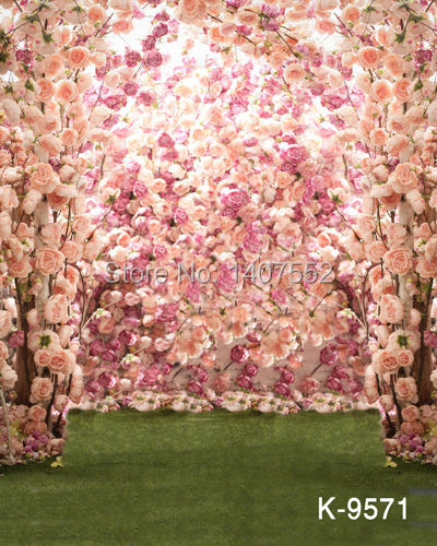 200CM*150CM fundo twisted trees3D baby photography backdrop digital wedding backdrops pink flower rose wall k-9571 - JOYL backgrounds Co.,Ltd store