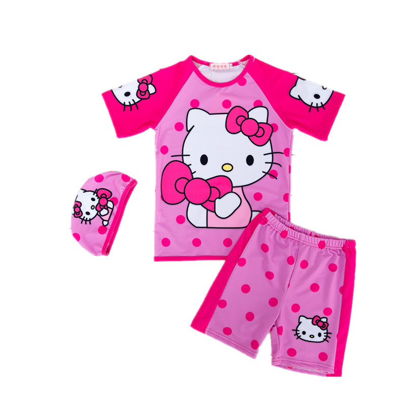 The new cartoon design cute girl swimsuit swimsuit girl infants baby girl clothes<br><br>Aliexpress