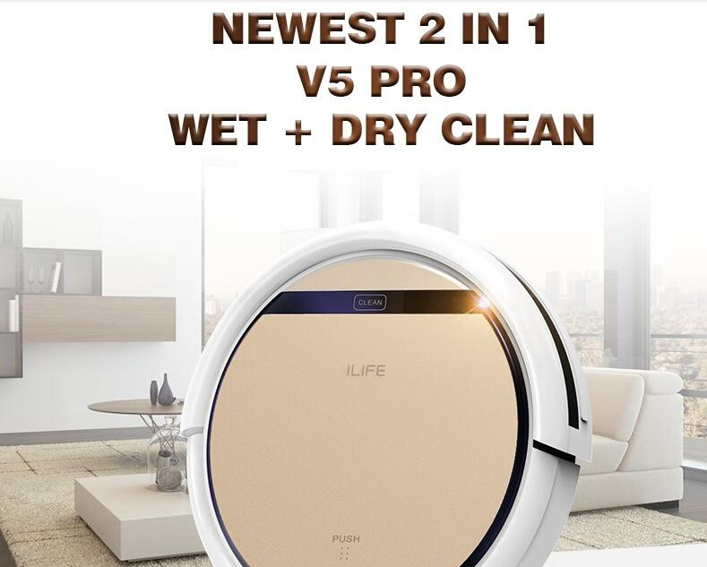 CHUWI Cleaner Wet Dry Clean MOP Water Tank HEPA Filter,Ciff Sensor,Self Charge V5 PRO ROBOT <br><br>Aliexpress
