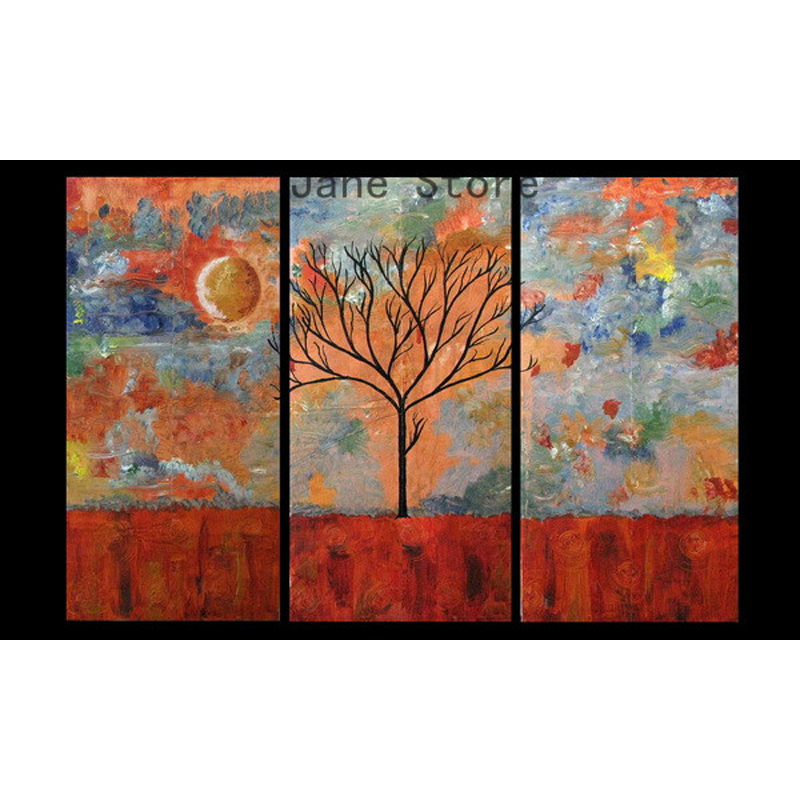 multi piece 3 panel wall art abstract paintings modern canvas oil