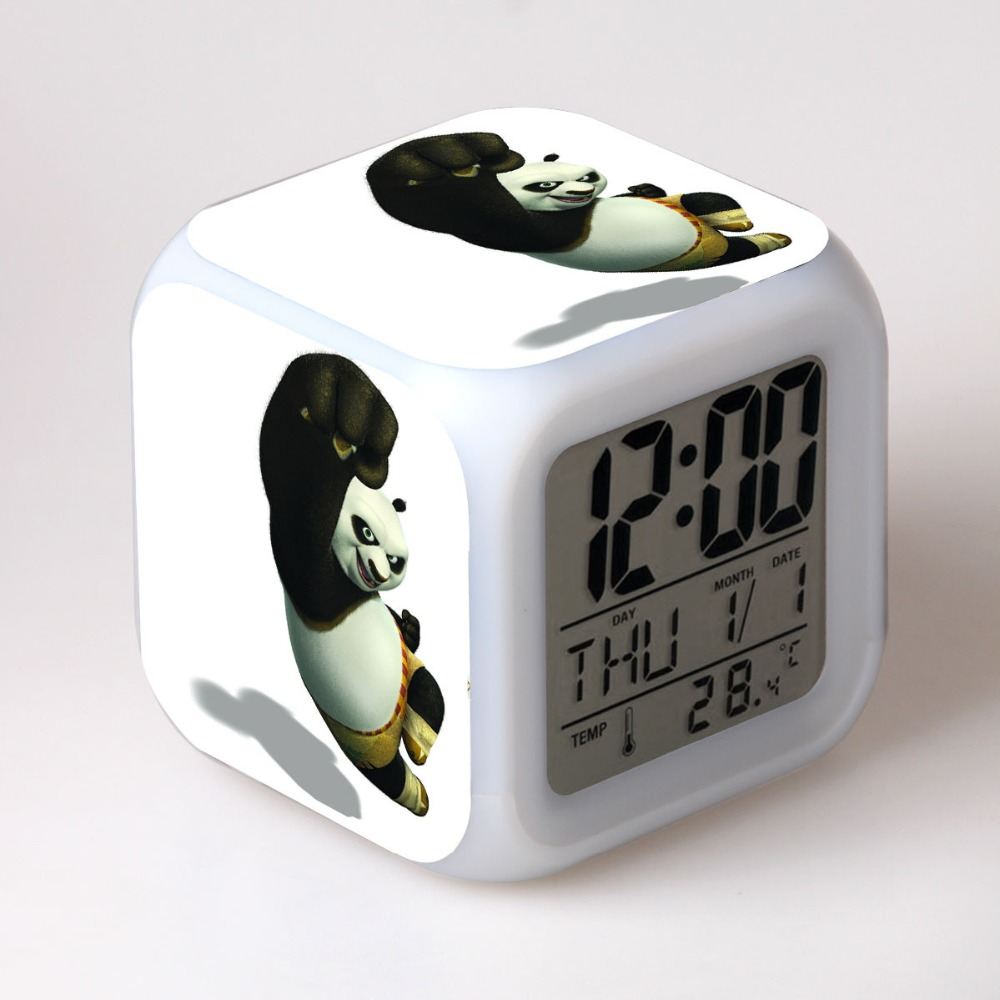 2016 New Movie Alarm Clock With 7 Colors Change Led
