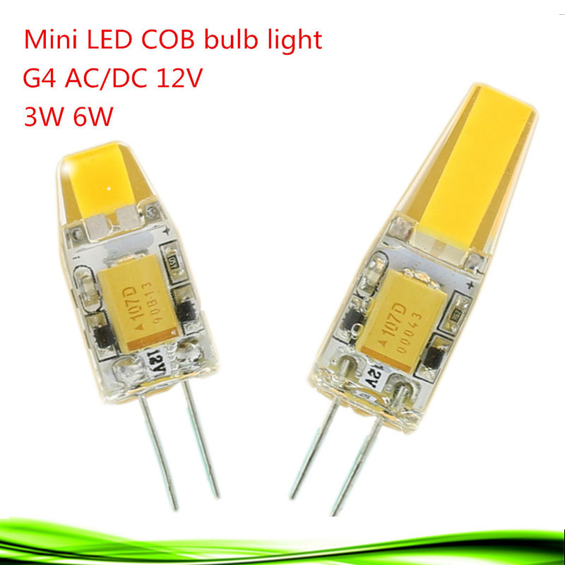 1x Mini G4 LED Lamp COB LED G4 Bulb 3W 6W AC/DC 12V LED Light Dimmable 360 Beam Angle Chandelier Lights Replace Halogen Lamps(China (Mainland))