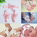Newborn photography props baby pictures Lacy bow headband accessories