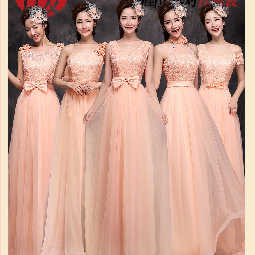 Pastel Orange Bridesmaid Dresses Fashion