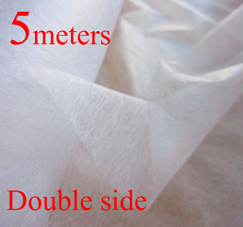 5 M Patchwork Interlining Double Faced Adhesive Batting Garment Interlining Non-Woven Fusible Interlining(China (Mainland))