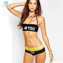 PINK HERO brand new classical fashion cartoon printed cotton women fade lace triangle underwear factory wholesale(China (Mainland))