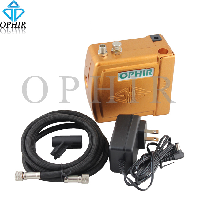 OPHIR 12V DC Battery Mini Air Compressor for Airbrush Kit Airbrushing Hobby Cosmetics Temporary Tattoo Body Paint Cake_AC003(China (Mainland))