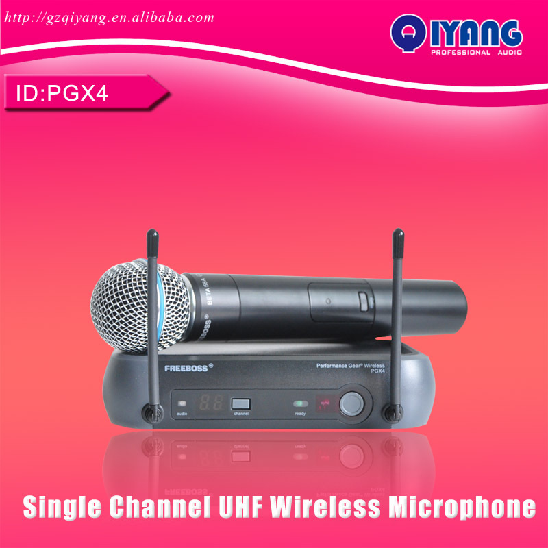General packaging Single Channel UHF vocal Wireless Microphone professional For KTV Karaoke Stage DJ Singing Microphone PGX4(China (Mainland))