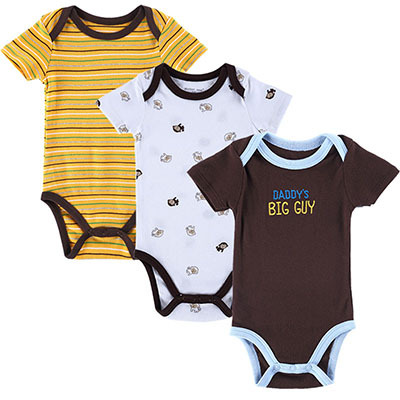 3 PCS/LOT Carters Baby Boy Clothes Newborn Baby Romper Set Short Sleeved Cotton Baby Romper Toddler Underwear Infant Clothing(China (Mainland))