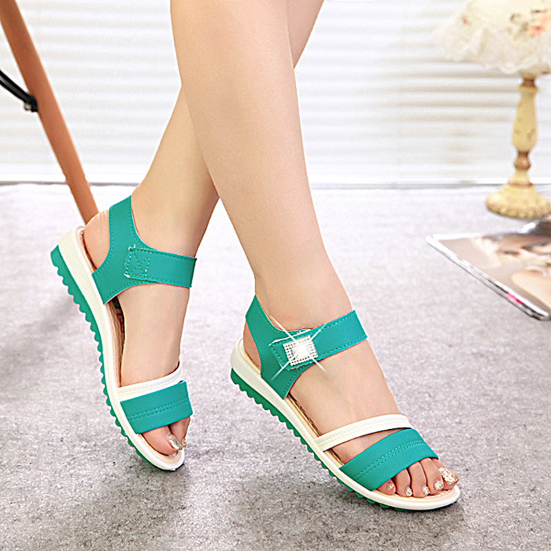 2016 summer swing shoes wedges platform open toe sandals for women female rhinestone womens shoes cool boots<br><br>Aliexpress