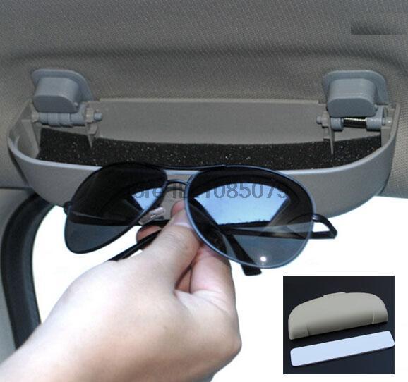 ACCESSORIES CAR AUTO SUNGLASSES HOLDER GLASSES CASE CAGE CLIP STORAGE BOX CONTAINER(China (Mainland))
