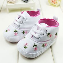Baby Girl Flower Shoes Baby Spring Autumn Princess Shoes First Walkers Footwear Toddler Soft Sole Shoes