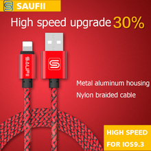 SAUFII USB Charger Cable for iPhone 5 5s 6 6s SE ipad capa 8PIN  Wire 1m 2m Fast Charging cord Mobile Phone Cables(China (Mainland))
