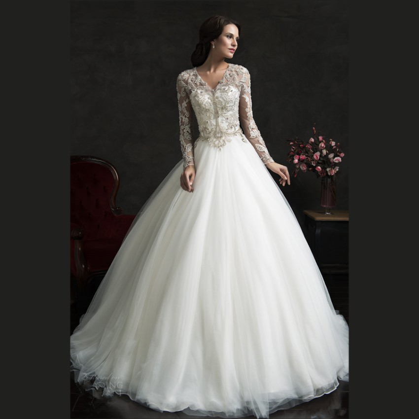Buy 2015 luxury white lace wedding for White wedding dresses with long trains
