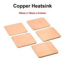 10pcs/lot 15x15x0.4mm DIY Copper Shim Heatsink thermal Pad Cooling for Laptop BGA CPU VGA Chip RAM IC Cooler Heat sink