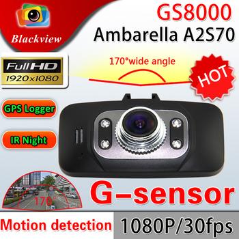Ambarella GS8000 Car DVR 1080P Full HD Motion Detection Night Vision 170 Degree Wide Angle With GPS HDMI Dash Cam