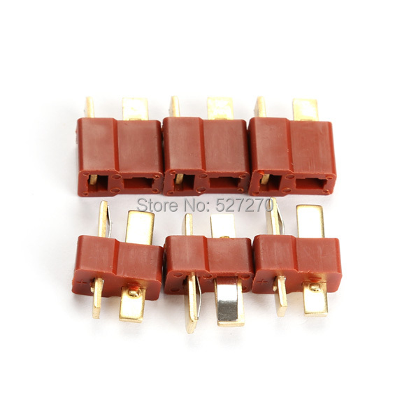 For Deans RC Lipo Battery Helicopter 10 Pair T Plug Connectors Male Female hv3n(China (Mainland))