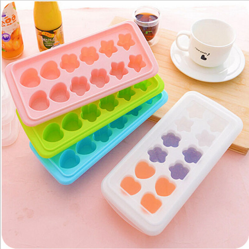 DIY Heart,Star Fridge Thickness Frozen Treats Form Freezer Ice Cream Tools ice tray Mould ice Mold ice Maker With Cover Lids(China (Mainland))