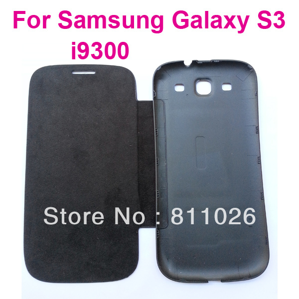 back cover whole flip leather case battery housing case for Samsung Galaxy S3 i9300,high quality ,10pcs/lot,free shipping
