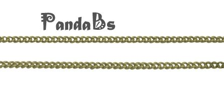 Brass Twisted  Chains Curb Chains, Come On Reel, Oval, Antique Bronze, 4x3x0.8mm, Nickel Free<br><br>Aliexpress