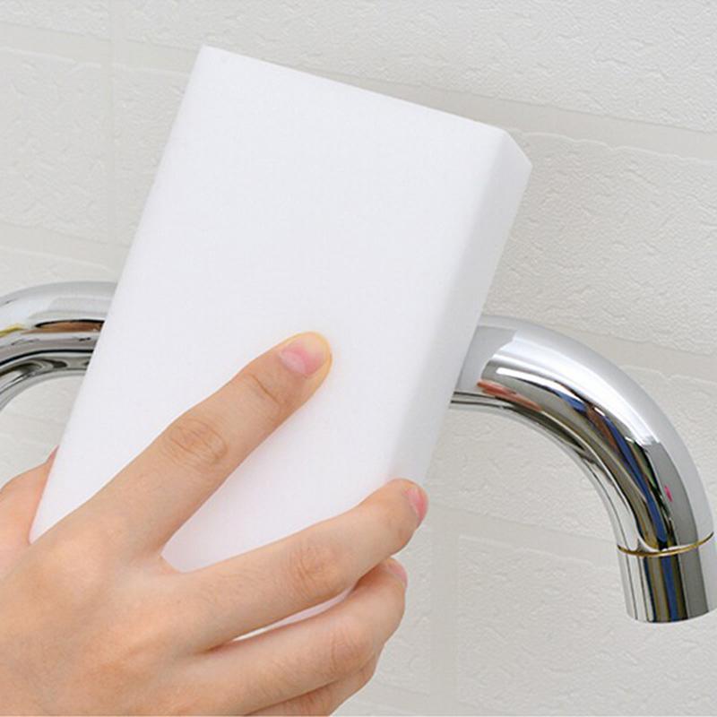 100pcs BAISPO White Melamine Sponge Magic Nano Sponge Eraser Kitchen Cleaner Bathroom Cleaning Tools Dish Free Shipping 10x6x2cm(China (Mainland))