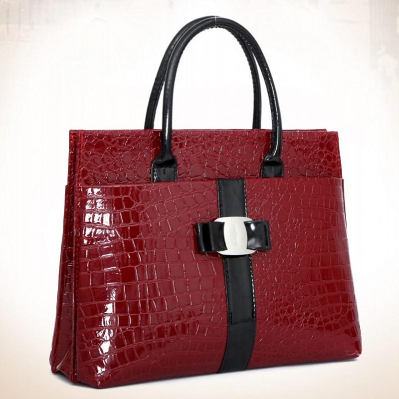 Гаджет  2015 New Luxury OL Lady bags handbags women famous brands Crocodile Pattern Hobo Handbag Tote Fashion Lady PU Shoulder handbag None Камера и Сумки