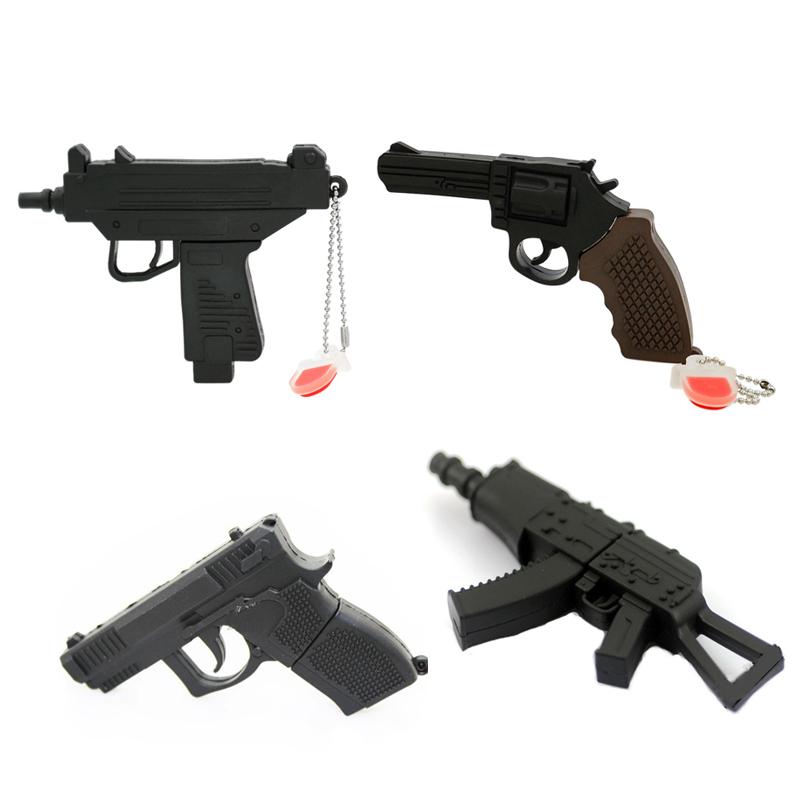 pendrive plastic cool AK47 Gun Shape Submachine gun 4GB roscoe 64 Gun 8G 16G 32G usb 2.0 flash drive creativo memory Stick/Disk(China (Mainland))