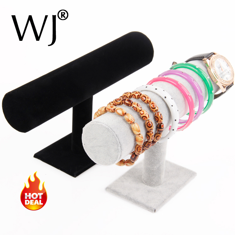 wooden bracelet holder display stand jewelry bangle