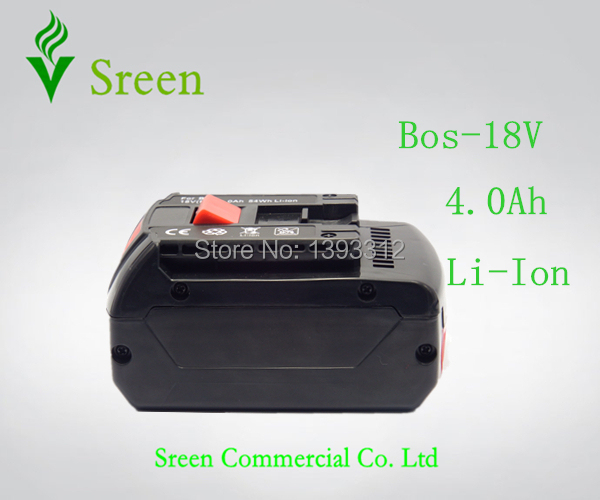 New 18V Rechargeable Lithium Ion 4.0Ah Replacement Power Tool Battery for Bosch BAT609 BAT609G BAT618 BAT618G 2 607 336 169(China (Mainland))