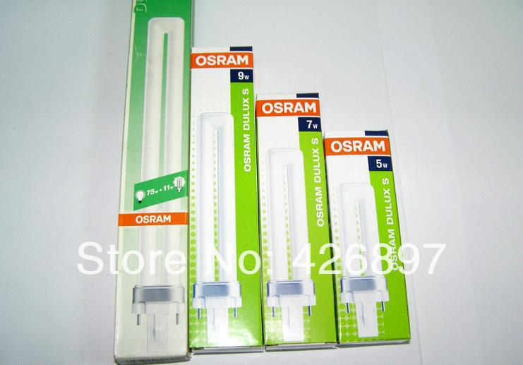 buy osram dulux s 7w compact fluorescent lamp tube lumilux 2 pins d s 7w 827. Black Bedroom Furniture Sets. Home Design Ideas