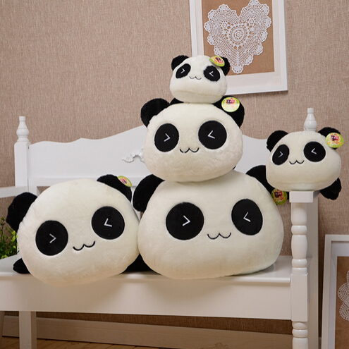 3Pcs/lot 25cm/10'' Cute Panda Plush Toy Doll Lie Prone Cartoon Pandas Pillow Birthday Gift for Child Girls Stuffed Toys Size(China (Mainland))