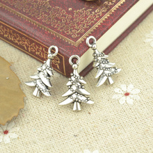 Buy 30pcs alloy Tibetan Silver Plated Christmas tree Charms Pendants Jewelry Making DIY Handmade Craft 21*14mm 21109 for $1.40 in AliExpress store