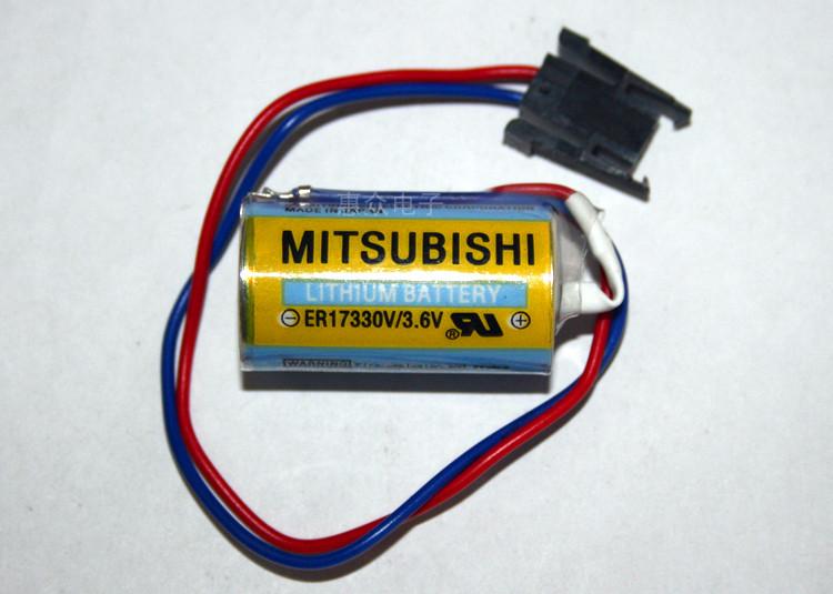 10pcs/lot New Original For Mitsubishi ER17330V MR-BAT CNC 3.6V 1700mah PLC Lithium Battery Batteries with Plug Free Shipping<br><br>Aliexpress