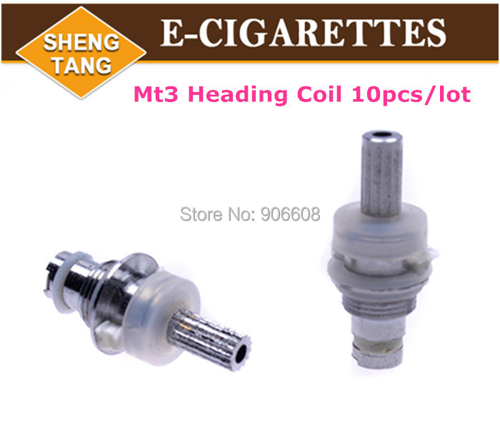 MT3 Atomizer Coil Head Core Bottom Heating Detachable Coils Replaceable T3 Cartomizer Coil Head for Electronic Cigarette<br><br>Aliexpress